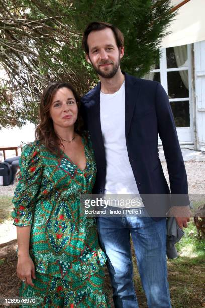 "Actors Laure Calamy and Benjamin Lavernhe attend the ""Antoinette Dans Les Cevennes"" Photocall at 13th Angouleme French-Speaking Film Festival on..."