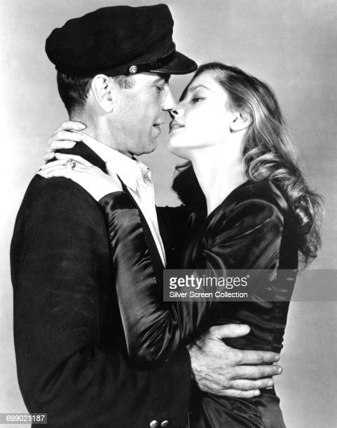 Actors Lauren Bacall as Marie 'Slim' Browning and Humphrey Bogart as Harry Morgan in a promotional still for the film 'To Have and Have Not' 1944