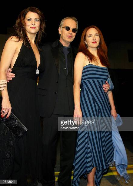 "Actors Lauren Graham , Billy Bob Thornton and Amy Yasbeck arrive at the premiere of ""Bad Santa"" at the Bruin Theater on November 18, 2003 in Los..."