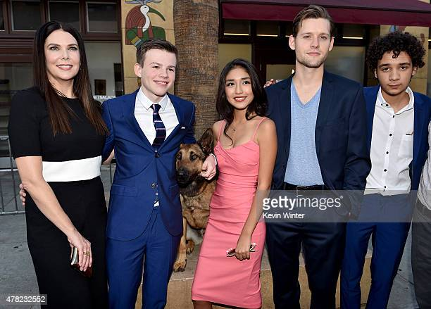 Actors Lauren Graham Josh Wiggins Jagger Max Mia Xitlali Luke Kleintank and Dejon LaQuake arrive at the premiere of Warner Bros Pictures and...