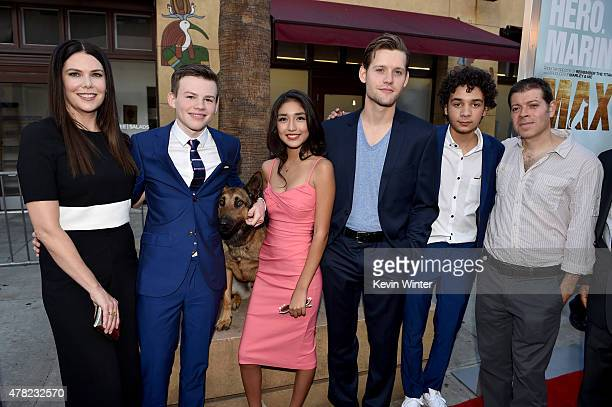 Actors Lauren Graham Josh Wiggins Jagger Max Mia Xitlali Luke Kleintank Dejon LaQuake and writer/director/executive producer Boaz Yakin arrive at the...