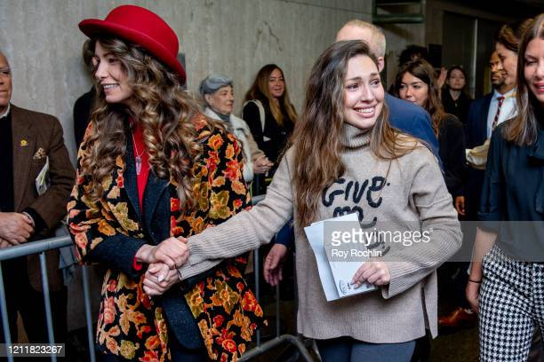 Actors Lauren Young and Jessica Mann walk out of the courthouse after movie mogul Harvey Weinstein was sentenced to 23 years in prison on March 11...