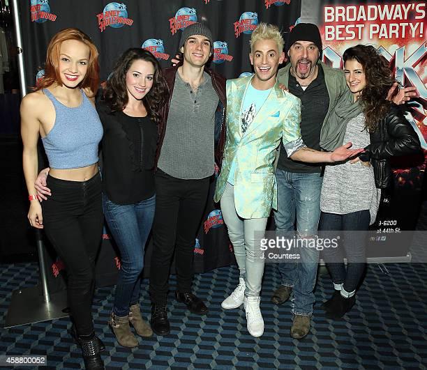 Actors Lauren Zakrin Alyssa Herrera Justin Matthew Sargent Frankie J Grande Adam Dannheisser and cast member attend the afterparty for the debut...