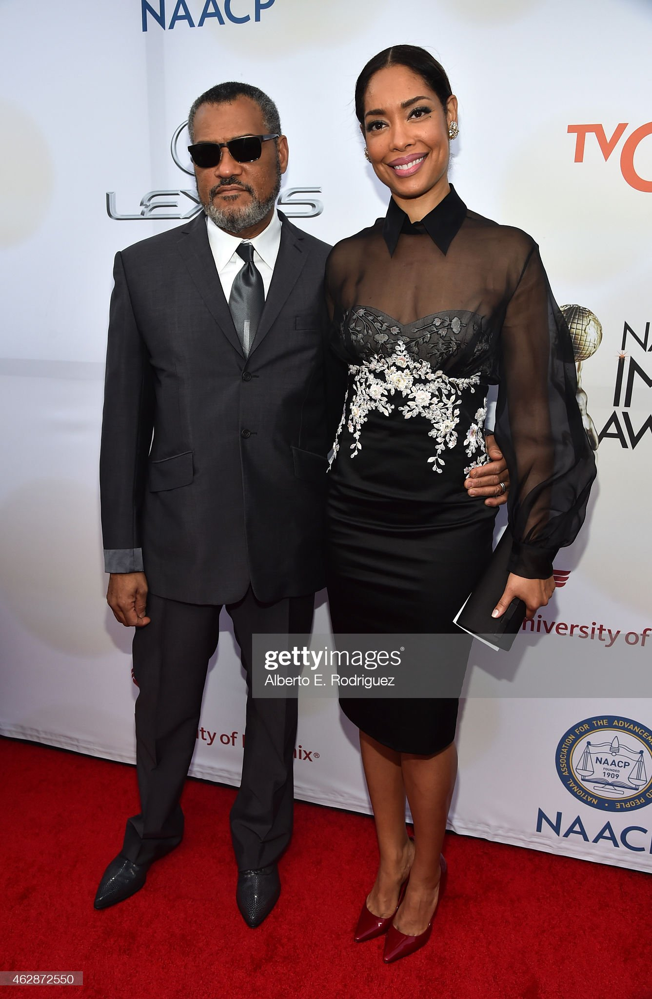 ¿Cuánto mide Laurence Fishburne? - Real height Actors-laurence-fishburne-and-gina-torres-attend-the-46th-naacp-image-picture-id462872550?s=2048x2048