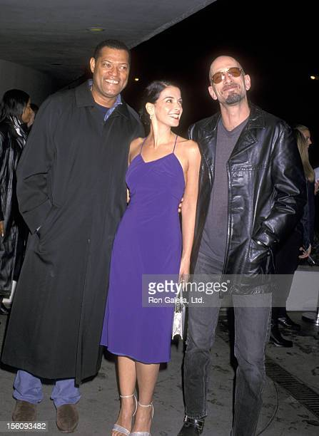Actors Laurence Fishburne Annabella Sciorra Dominic Chianese Jr attend the 'Once in the Life' New York City Premiere on October 17 2000 at Solomon R...
