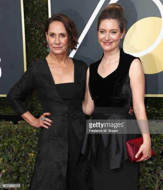 Actors Laurie Metcalf and Zoe Perry attend The 75th Annual Golden Globe Awards at The Beverly Hilton Hotel on January 7 2018 in Beverly Hills...