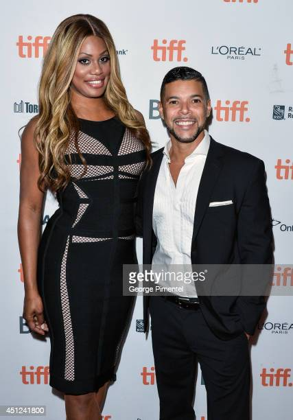 Actors Laverne Cox and Wilson Cruz poses at TIFF Inside Out's WorldPride Programming Bent Lens Pride On Screen Presents In Conversation With Laverne...