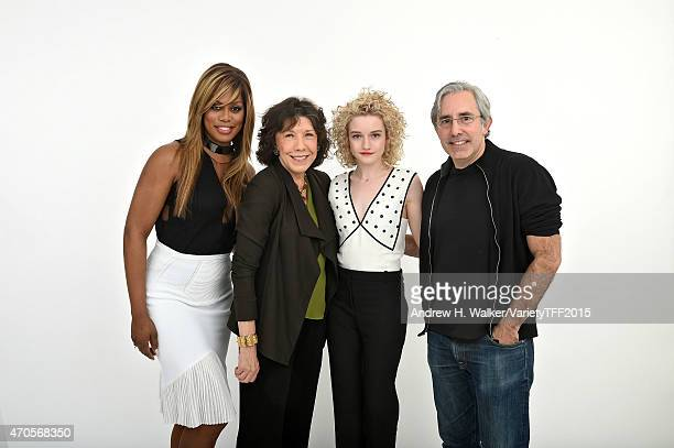 Actors Laverne Cox Lily Tomlin Julia Garner and producer Paul Weitz from 'Grandma' appear at the 2015 Tribeca Film Festival Getty Images Studio on...