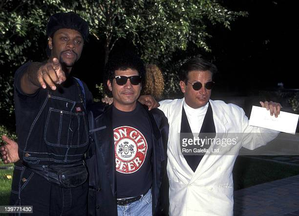 Actors Lawrence Hilton Jacobs Robert Hegyes and Ron Pallilo attend Fourth Annual MTV Movie Awards on June 10 1995 at Warner Brothers Studios in...