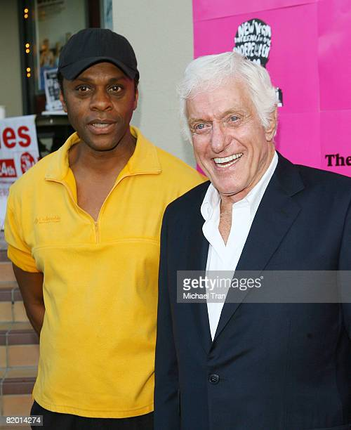 Actors Lawrence HiltonJacobs and Dick Van Dyke arrive at the premiere of The Wonder Kids held at Laemmle Sunset 5 on July 20 2008 in Los Angeles...