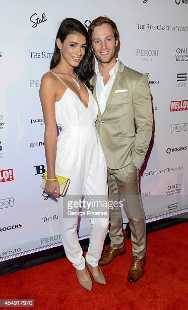 Actors Laysla De Oliveira and Jonathan Keltz attend the HELLO Canada's 2014 Toronto International Film Festival Gala held at Ritz Carlton on...