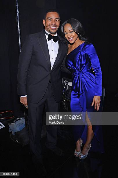 Actors Laz Alonso and Meagan Good attend the 44th NAACP Image Awards at The Shrine Auditorium on February 1 2013 in Los Angeles California