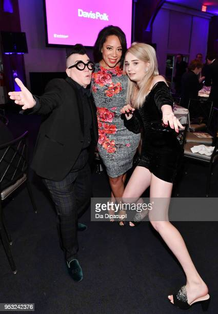 Actors Lea DeLaria and Selenis Leyva and singer-songwriter Kim Petras attend the Lambda Legal 2018 National Liberty Awards at Pier 60 on April 30,...