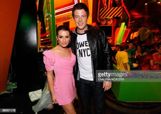 COVERAGE** Actors Lea Michele and Cory Monteith attend Nickelodeon's 23rd Annual Kids' Choice Awards held at UCLA's Pauley Pavilion on March 27 2010...