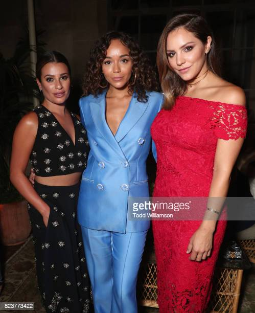 Actors Lea Michele Ashley Madekwe and Katherine McPhee at the Amazon Prime Video premiere of the original drama series 'The Last Tycoon' at Harmony...