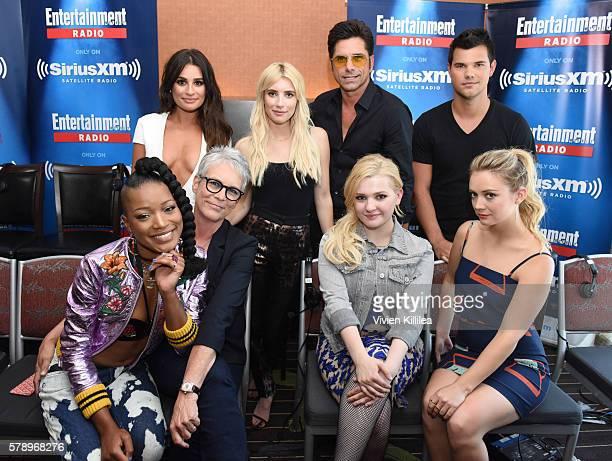 Actors Lea Michele Emma Roberts John Stamos Taylor Lautner Keke Palmer Jamie Lee Curtis Abigail Breslin and Billie Lourd attend SiriusXM's...