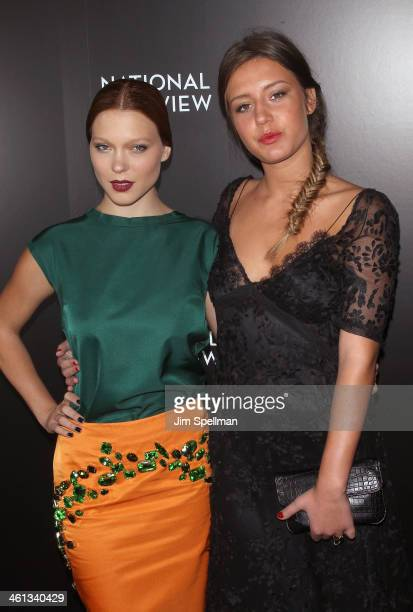 Actors Lea Seydoux and Adele Exarchopoulos attend the 2014 National Board Of Review Awards Gala at Cipriani 42nd Street on January 7 2014 in New York...