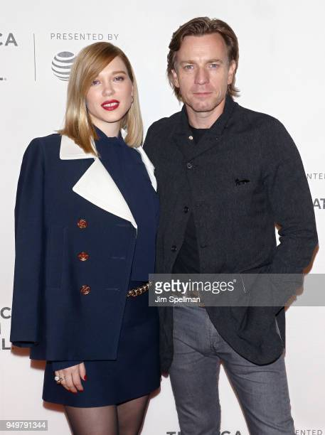 Actors Lea Seydoux and Ewan McGregor attend the 'Zoe' premiere during the 2018 Tribeca Film Festival at BMCC Tribeca PAC on April 21 2018 in New York...
