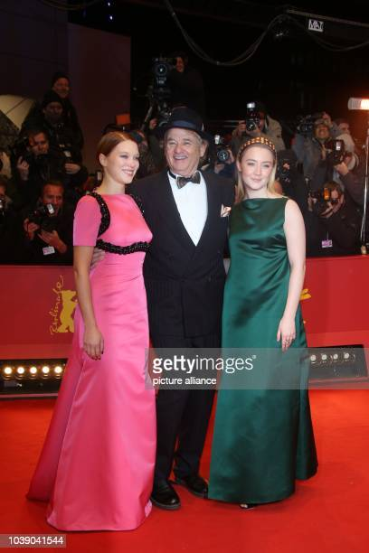 Actors Lea Seydoux Bill Murray and Saoirse Ronan attend the world premiere of 'The Grand Budapest Hotel' during the 64th International Berlin Film...
