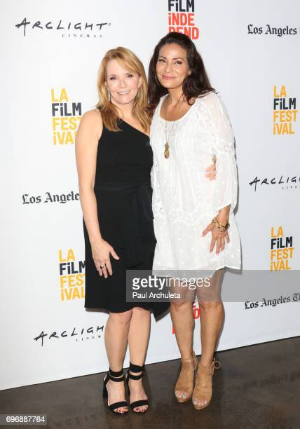Actors Lea Thompson and Constance Marie attend the 2017 Los Angeles Film Festival premiere Of The Year Of Spectacular Men at ArcLight Santa Monica on...