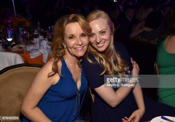 Actors Lea Thompson and Deborah Ann Woll attend the 24th Annual Race To Erase MS Gala at The Beverly Hilton Hotel on May 5 2017 in Beverly Hills...