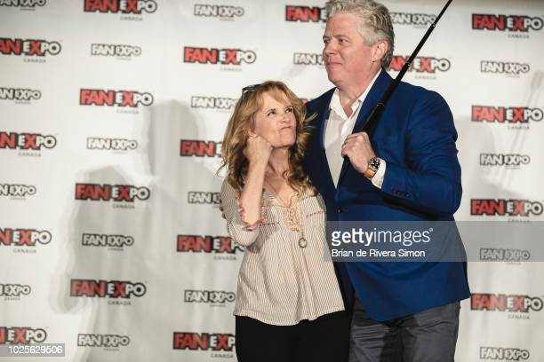"""Actors Lea Thompson and Tom Wilson attend An Evening With the Cast of """"Back To The Future"""" at the Metro Toronto Convention Centre on August 31, 2018..."""
