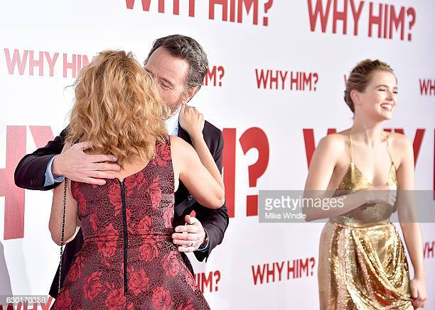 Actors Lea Thompson Bryan Cranston and Zoey Deutch attend the premiere of 20th Century Fox's Why Him at Regency Bruin Theater on December 17 2016 in...