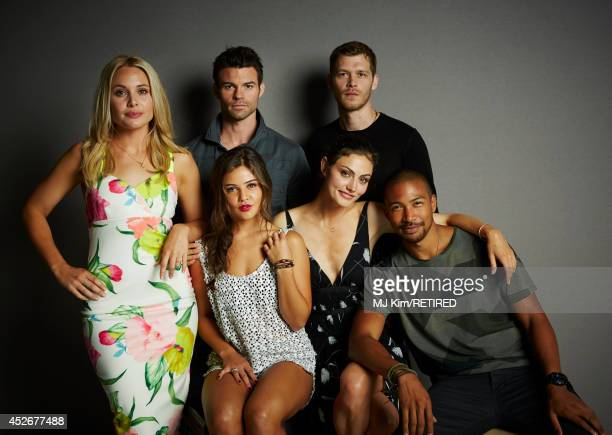 Actors Leah Pipes Daniel Gillies Danielle Campbell Phoebe Tonkin Joseph Morgan and Charles Michael Davis pose for a portrait at the Getty Images...