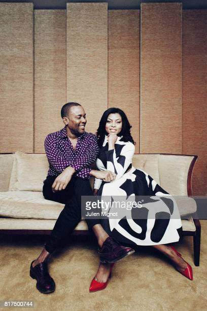 Actors Lee Daniels and Taraji P Henson from TV show Empire are photographed on April 18 2015 in Paris France PUBLISHED IMAGE