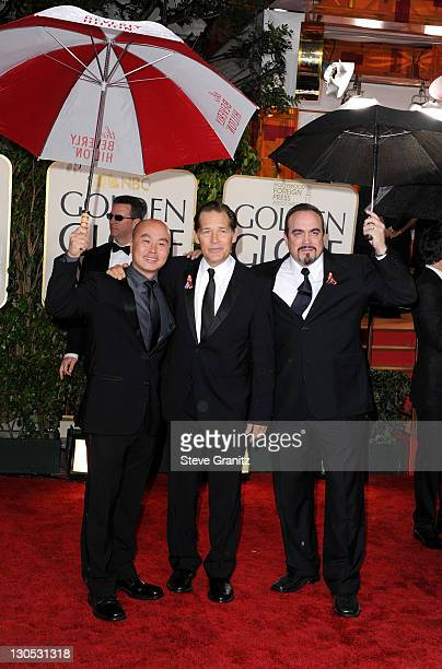 Actors CS Lee James Remar and David Zayas arrive at the 67th Annual Golden Globe Awards at The Beverly Hilton Hotel on January 17 2010 in Beverly...