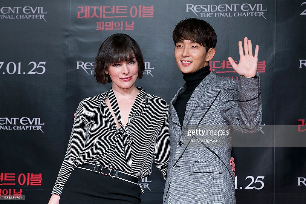 Actors Lee Jun Ki And Milla Jovovich Attend The Press Conference