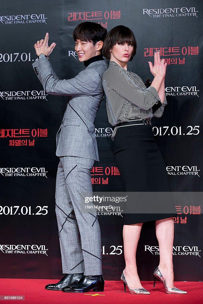 Actors Lee Jun Ki And Milla Jovovich Attend The Press Conference