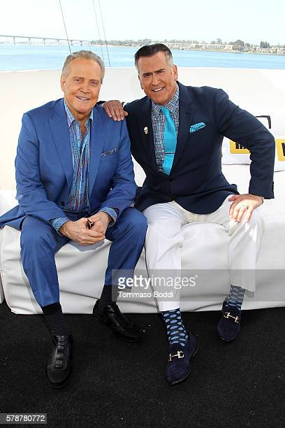 Actors Lee Majors and Bruce Campbell of Ash Vs Evil Dead attend the IMDb Yacht at San Diego ComicCon 2016 Day Two at The IMDb Yacht on July 22 2016...