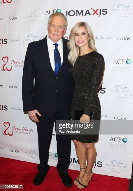 Actors Lee Majors and Faith Majors attend the Open Hearts Foundation 10th Anniversary Gala at SLS Hotel at Beverly Hills on February 15 2020 in Los...
