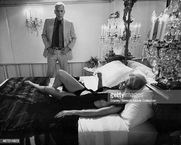 Actors Lee Marvin and Angel Tompkins in a scene from the movie 'Prime Cut' 1972
