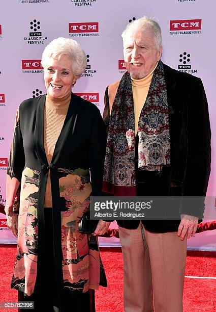 Actors Lee Meriwether and Marshall Borden attend 'All The President's Men' premiere during the TCM Classic Film Festival 2016 Opening Night on April...