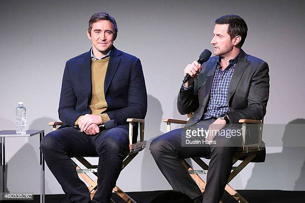 Actors Lee Pace and Richard Armitage attend The Apple Store Soho Presents Meet The Actors 'The Hobbit The Battle of the Five Armies' at Apple Store...