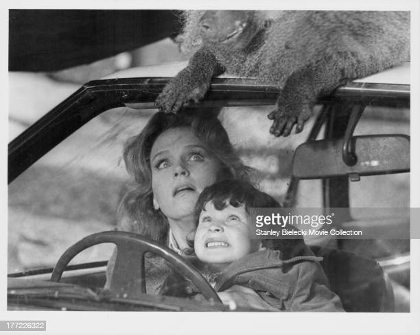Actors Lee Remick and Harvey Stephens in a scene from the movie 'The Omen' 1976