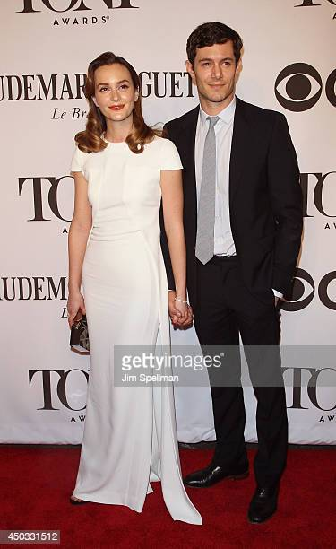 Actors Leighton Meester and Adam Brody attend American Theatre Wing's 68th Annual Tony Awards at Radio City Music Hall on June 8 2014 in New York City