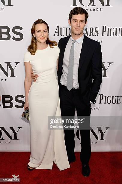 Actors Leighton Meester and Adam Brody attend the 68th Annual Tony Awards at Radio City Music Hall on June 8 2014 in New York City