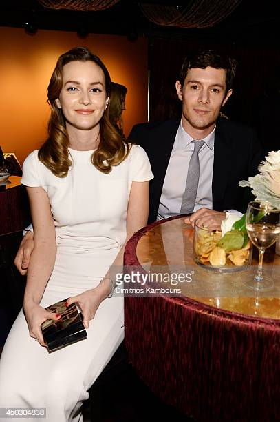 Actors Leighton Meester and Adam Brody attends the 68th Annual Tony Awards at Radio City Music Hall on June 8 2014 in New York City