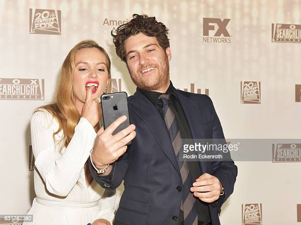 Actors Leighton Meester and Adam Pally attend FOX and FX's 2017 Golden Globe Awards after party at The Beverly Hilton Hotel on January 8 2017 in...