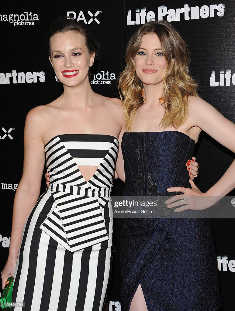 Actors Leighton Meester (L) and Gillian Jacobs arrive at the Los Angeles premiere of 'Life Partners' at ArcLight Hollywood on November 18, 2014 in Hollywood, California.