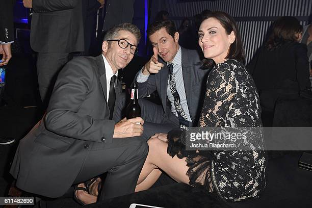 Actors Leland Orser Richard Armitage and Michelle Forbes attend EPIX 'Berlin Station' LA premiere at Milk Studios on September 29 2016 in Los Angeles...