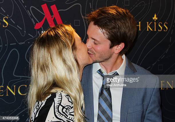 Actors Lelia Parma and Tyler Ritter attend the premiere of French Kiss at The Marina del Rey Marriott on May 19 2015 in Marina del Rey California