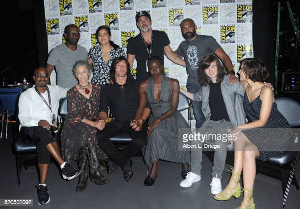 Actors Lennie James Alanna Masterson Jeffrey Dean Morgan and Khary Payton Seth Gilliam Melissa McBride Norman Reedus Danai Gurira Chandler Riggs and...