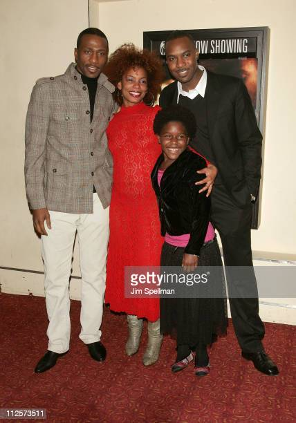 "Actors Leon, Aunjanue Ellis, Tomorrow Montgomery and Raz Adoti arrive at the ""Cover"" Premiere at the Village East Theater on February 18, 2008 in New..."