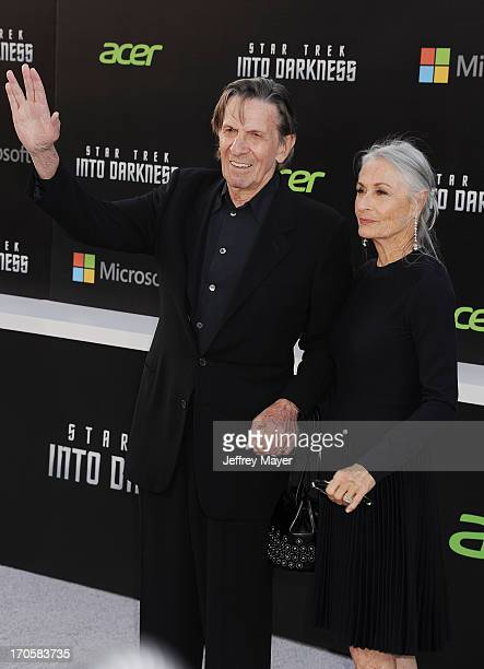 Actors Leonard Nimoy and Susan Bay arrive at the Los Angeles premiere of 'Star Trek: Into Darkness' at Dolby Theatre on May 14, 2013 in Hollywood,...