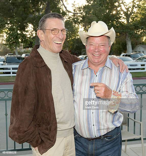 Actors Leonard Nimoy and William Shatner attend the 19th Annual 'Hollywood Charity Horse Show' at the Los Angeles Equestrian Center on April 25, 2009...