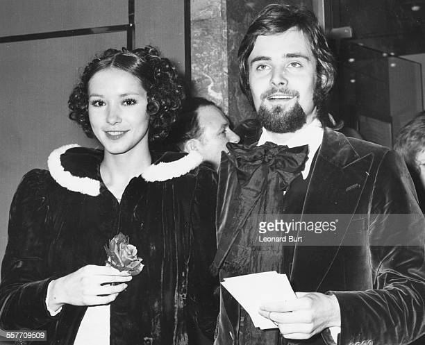 Actors Leonard Whiting and his partner Cathee Dahmen arriving at the premiere of the film 'Say Hello to Yesterday' at the Warner Rendezvous Leicester...